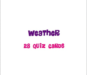 Weather Quiz Cards - Utah 4th Grade Science