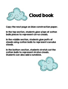 Weather - Rain and Clouds Science Water Cycle - optional QR Codes included