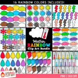Weather Rainbow Clip Art Bundle