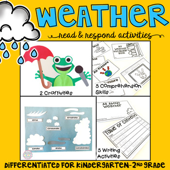 Weather: Reading Comprehension, Writing and Craftivities