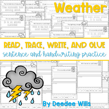 Weather: Read, Trace, Glue, and Draw