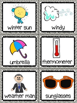 Weather Read, Write, and Count the Room {Literacy and Math} {CCSS}