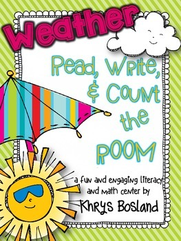 Weather Read, Write, and Count the Room {Literacy and Math