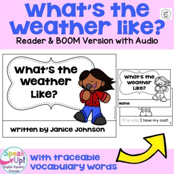 Weather Reader & Vocabulary Pack + BOOM™ Version with Audio