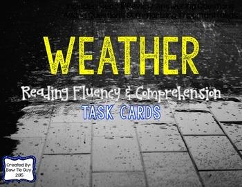 Weather Reading Comprehension & Fluency Task Cards