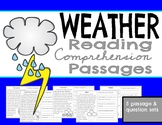 Weather Reading Comprehension Passages & Questions ~ Torna