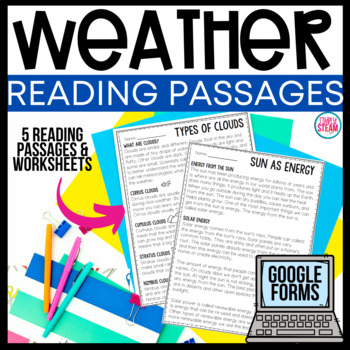 Weather Reading Passages and Activities