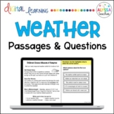 Weather Reading Passages and Questions (Digital and Print) - Distance Learning