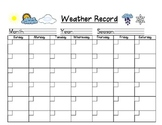 Weather Record Chart for Daily Recording