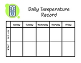 Daily Temperature Record for Math Center/Calendar/Creating Graphs
