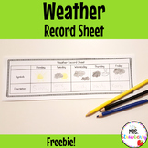 Weather Record Worksheet