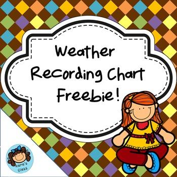 Weather Recording Chart Freebie