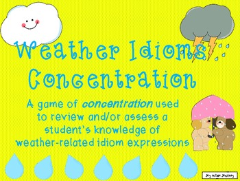 Weather-Related Idioms Concentration Game