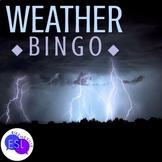 Weather Related Vocabulary Bingo