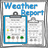 Weather Report - Back To School, Bulletin Board, Special Needs, Earth Science