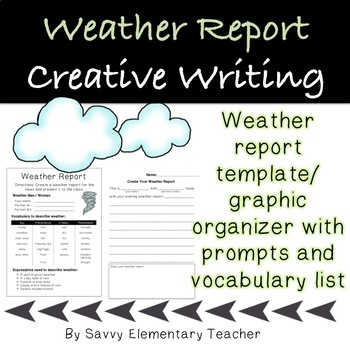 weather report story writing great for drama or oral presentation mark