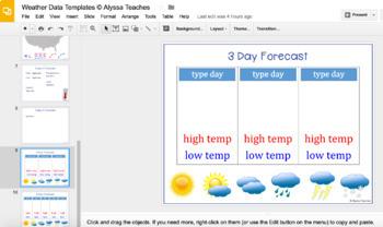 Weather Report Digital Templates