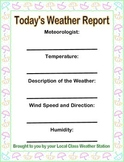 Weather Report Form