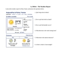 Weather Report - French Reading Comprehension Activity