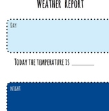 Weather Report Worksheet or Reusable Poster (8.5 X 11)