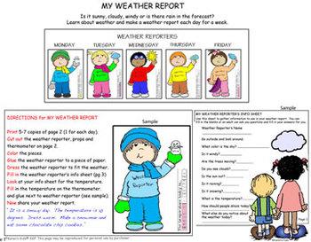 Weather Reporter Activities