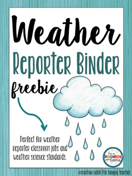 Weather Reporter Recording Sheets Freebie!