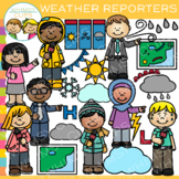 Weather Reporters Clip Art