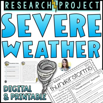 Severe Weather Research Project (Non-Fiction Text)