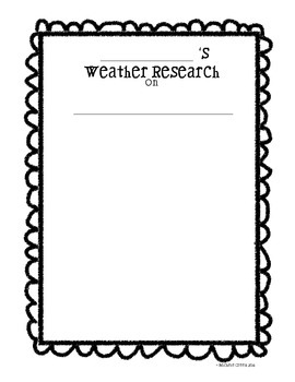 Weather Research Report