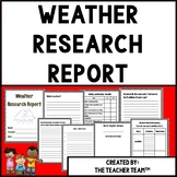 Weather | Weather Research Report