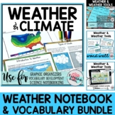DISTANCE LEARNING Weather Research|Vocabulary Bundle: Vocabulary Mats|Word Wall