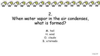 Weather Review Game/Activity