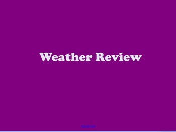 Weather Review Slides