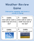 Weather Review Task Card Game