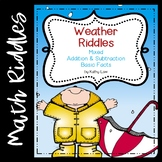 Weather Riddles -- Addition & Subtraction | Distance Learning