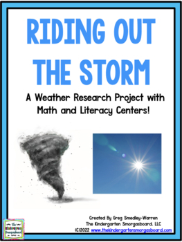 Weather Research And Writing Project With Math And Literacy Centers