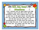 Weather Roll Say Keep High Frequency Word Game