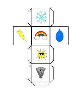 Weather Roll Tally Graph Math Activity Set