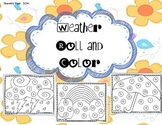 Weather Roll and Color Worksheets