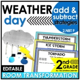 2nd Grade Weather Classroom Transformation | Addition and