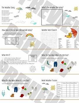 Weather (SMART board & Google Doc)