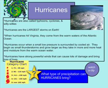 Weather SMARTboard Instructional Lesson - 26 Pages-Clips & Interactive