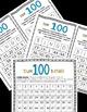 Sums of 100 Memory, Top-It, & BINGO