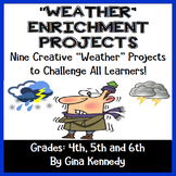 Weather Projects, Vocabulary Handout and Quiz