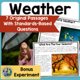 Weather: Science Reading Comprehension Passages