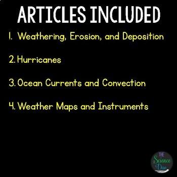 Weather Science Literacy Bundle