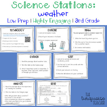 Weather Science Stations Centers Activities Third Grade Low Prep