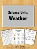 Weather: Science Unit for Kids with Autism