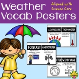 Weather Science Vocabulary Posters for Word Wall of Intera