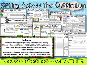 Weather - Science - Writing across the Curriculum and activities